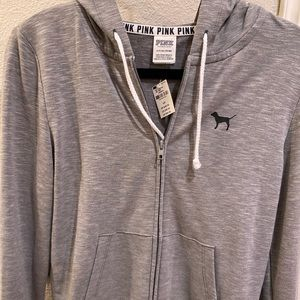 PINK grey sweatshirt NWT
